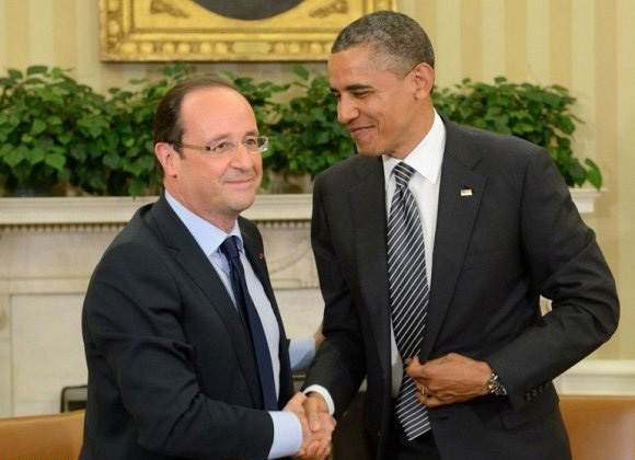 هولاند يأكد لباراك أوباما أن فرنسا والولايات المتحدة ستظلان حليفتين وصديقتين.