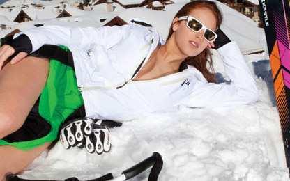 المتزلجة اللبنانية جاكي شمعون تعتذر على صورها العارية على الثلج