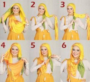 طريقة لوضع الحجاب