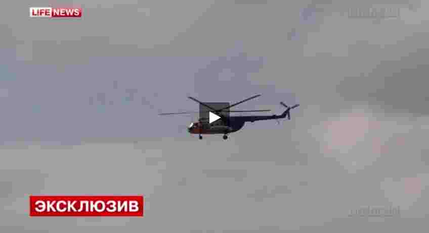 بالفيديو: تحطم مروحية روسية أثناء هبوطها