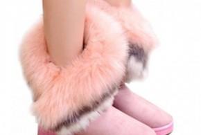 أحذية للشتاء بالفرو الناعم
