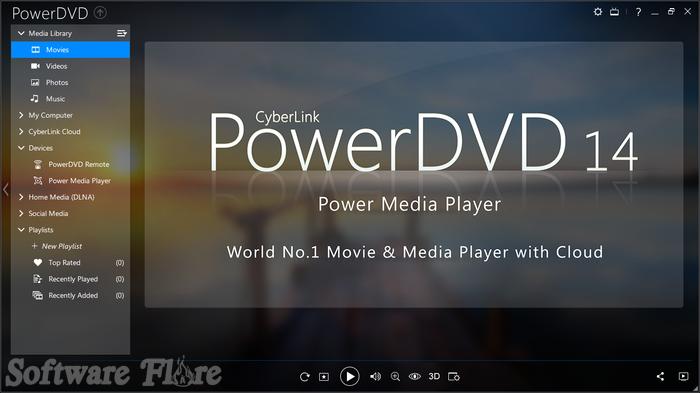 PowerDVD 14.0.4412 تحميل أحدث اصدار لبرنامج مشغل الفيديو