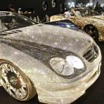 سعودي يقتني سيارة مغلفة بالألماس