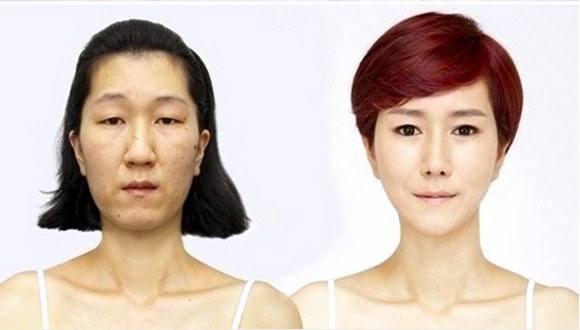 فتاة كورية قبيحة تحولت إلى فتاة أحلام الشباب