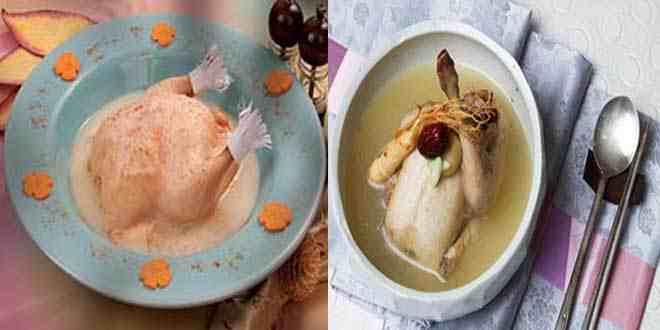 دجاج محشي مع المرق من مطبخ منال العالم