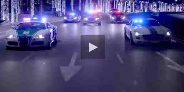 فيديو دبي تستعرض سيارات الشرطة الاسرع في العالم