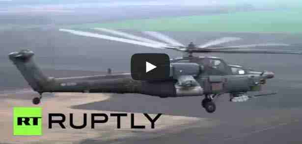 شاهد أقوى المروحيات الروسية بالذخيرة الحية
