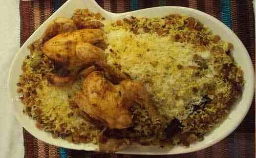 دجاج مع الأرز و الزبيب المقادير وطريقة التحضير