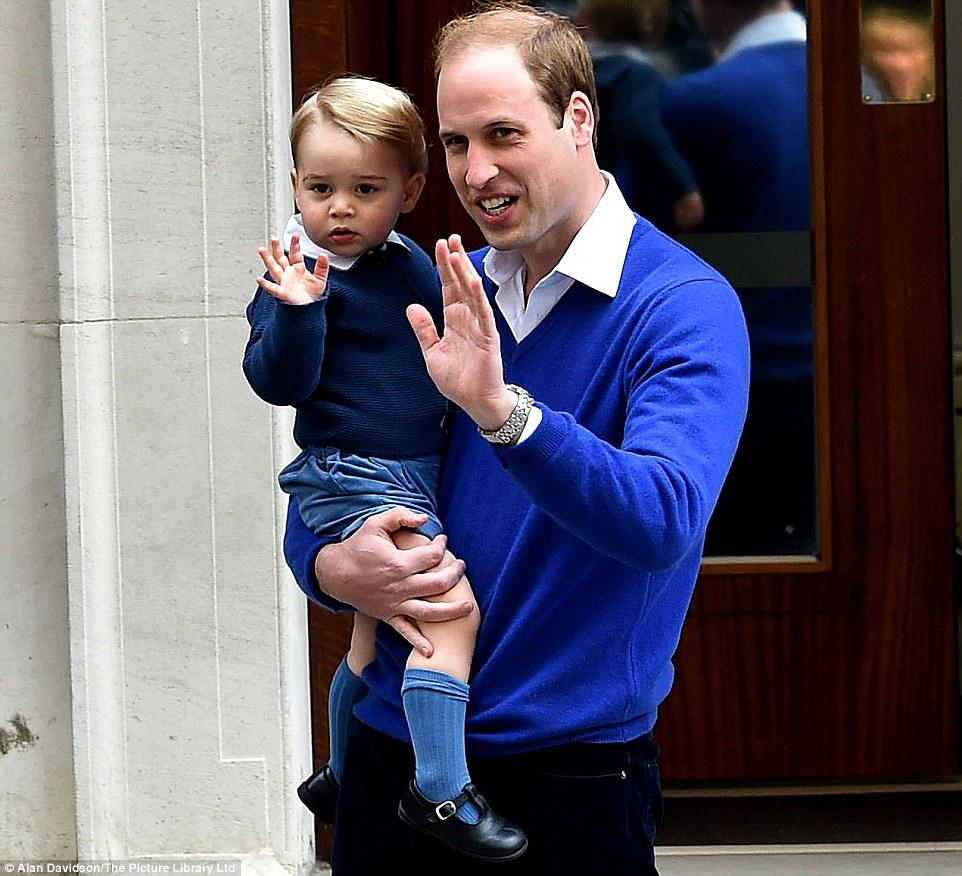 الأمير وليام مع ابنه جورج
