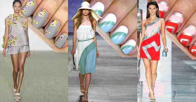 تنسيق المناكير مع ألوان و تصاميم الفساتين فكرة مبدعة