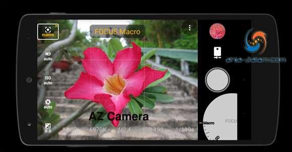 تطبيق كاميرا احترافية AZ Camera مشابة لكاميرات الديجيتال