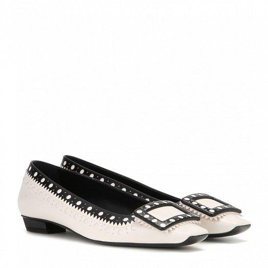 مجموعة احذية بالرينا من الجلد