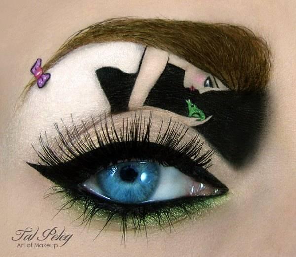 رسمات فنية على العيون