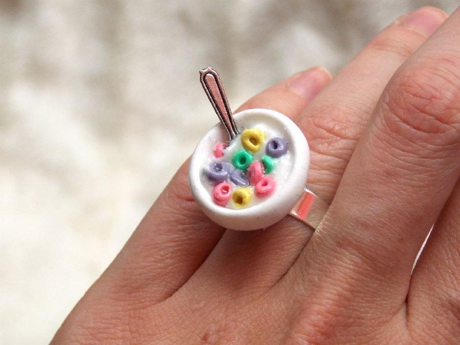 خاتم حبوب الفطور مع الحليب