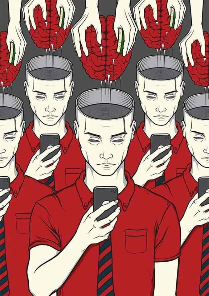 صور تظهر كيف تلعب تطبيقات الموبايل في عقولنا