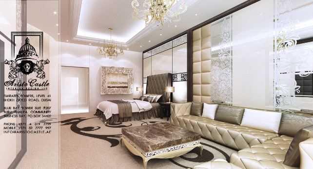 غرف نوم ملكية