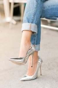 صور احذية باللون الفضي