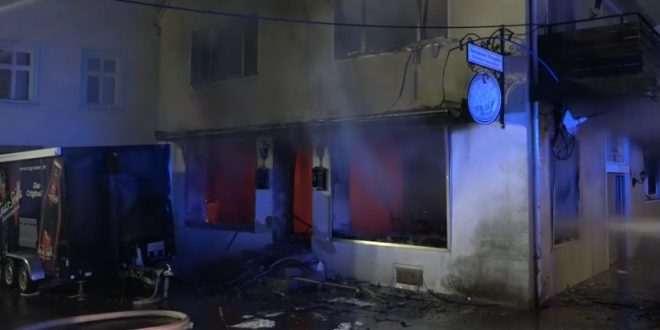 فحم أركيلة لاجئين سوريين يسبب حريق مأوى اللاجئين في ألمانيا !