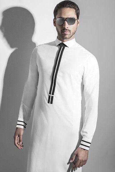 aa8d08ea5ddd0 ثوب خليجي أبيض جديد عنوان فخامة و أناقة الرجل الخليجي - احلى عالم