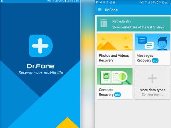 تطبيق دكتور فون لاستعادة الملفات المحذوفة من الاندرويد